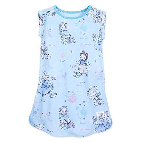 (Disney Animators' Collection Sleeveless Nightshirt for Girls Size 3 Multi)