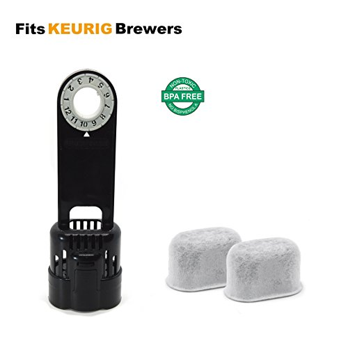 Keurig Classic 1.0 Brewers Starter Kit Replacement with Holder and 2 Pack Charcoal Water Filter for Keurig Coffee Makers by ElloGreen