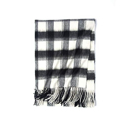 亜熱帯敬な必要とする秋と冬のスカーフ、黒と白のチェック柄の暖かい学生ウールショール