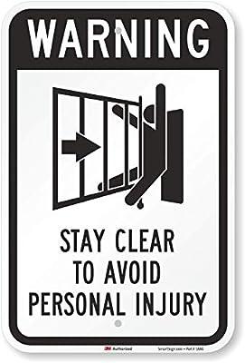 Señal de advertencia de puerta automática, símbolo de estancia ...