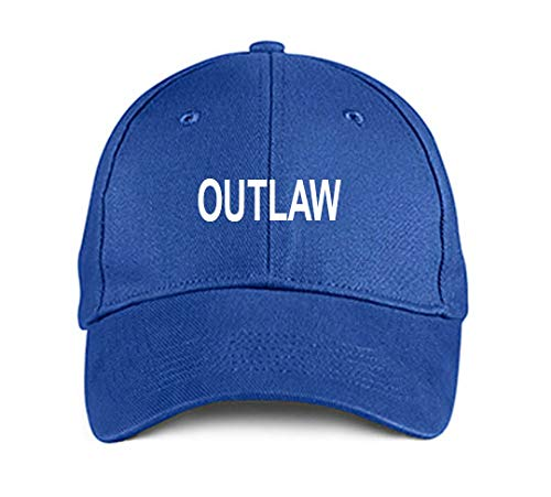 Product Express Outlaw Blue Funny Embroidered Hat Adjustable Structured Baseball Caps