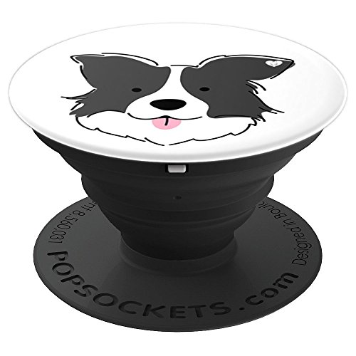 Border Collie Dog Breed Mobile Accessory White Gift - PopSockets Grip and Stand for Phones and Tablets