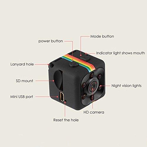 FlyKasi SQ11 HD Camcorder HD Night Vision Mini Camera 1080P