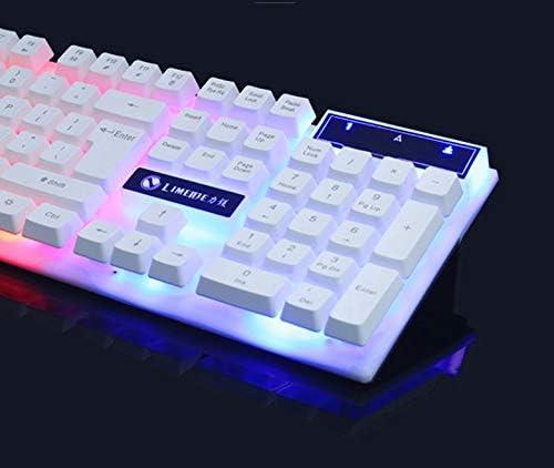 Illuminated Gaming Keyboard Wired Laptop USB Mechanical Feel Keyboard Professional Gaming Keyboard