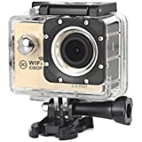 WitMoving Action Camera Full HD 1080P Waterproof Sport Camera Camcorder with Carcorder Mode WiFi & Remote, HDMI Port, 170 Degree Wide View Angle, 2 Inch LCD Screen, 30M Underwater Cam for Swimming Div