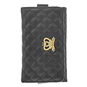 Soft Leather Diamond Crown Embellished Purse with Card Slot for iPhone 4/4S/5/5S/5C (Assorted Colors) , White
