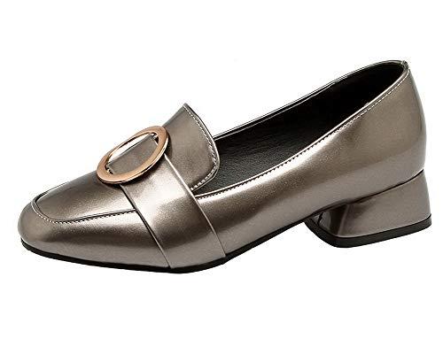 Ballet Puro Donna Pelle Tacco Maiale di Argento Flats Tirare Basso AllhqFashion FBUIDD007030 apqnx8gp
