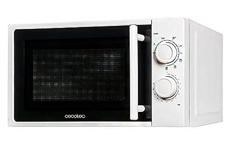 Cecotec Grill - Microondas con grill, input 1200 W, output 700W, grill de 900W, 20 l, 9 niveles, Blanco