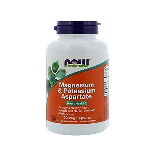 Now Supplements, Magnesium & Potassium Aspartate with Taurine, 120 Capsules