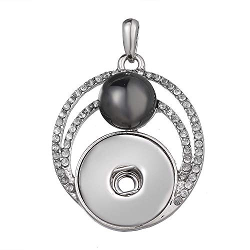 Hot Women Crystal Jewelry Necklace Pendant Fit 18mm Noosa Snap Button N281