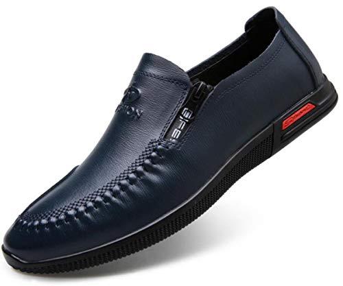 Frühling Herren Casual Lederschuhe Mode Breathable Single Schuhe Set Schuhe Fuß Blue
