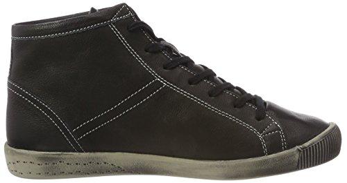 Softinos Damen Isleen Gladde High-top Zwart (zwart)