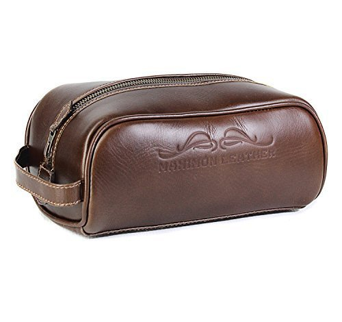 Maximon Handsome Full Grain Leather Dopp Kit    Luxury Lifestyle Travel  Accessories for Men    Business Man Gifts (Vintage Edition 9ea28a9e11d44