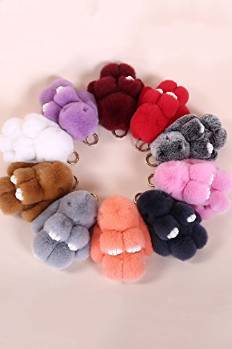 Price comparison product image Generic dead_and genuine,_rabbit hair hanging_in small_Rabbit_fur_accessories_packages_hanging_Ornaments _schoolbag_Mang_Mang_rabbit_key_attached.