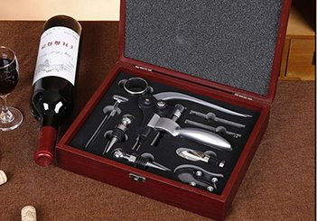 Vintage Collection Lever Wine Opener & Foil Cutter and 9 Piece Accessories Set, Open Wine With Ease Like a Pro, Everything You'll Ever Need in a Deluxe Wooden Box – Great Wine Lovers Gift for Any Occa by Vintage Collection (Image #8)