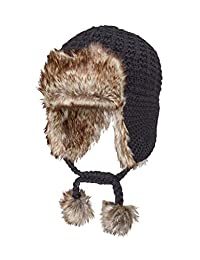 Screamer Women's Magnolia Faux Fur Earflap Trapper Hat