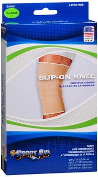 Sport Aid Slip-On Knee Wrap XL Beige - 1 ea., Pack of 4