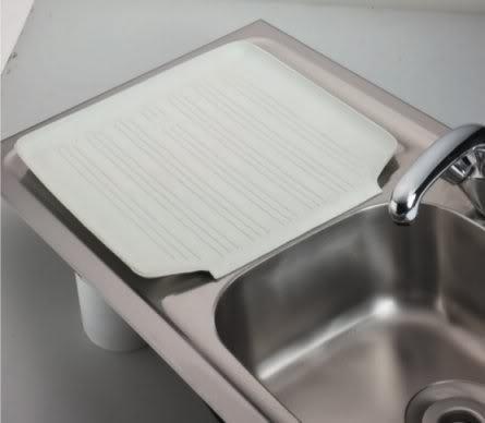 Curved Edge Rubber Kitchen Sink Belfast Draining Board Mat Worktop Non Slip