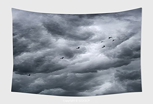 Home Decor Tapestry Wall Hanging Background Of Storm Clouds_64346220 for Bedroom Living Room Dorm