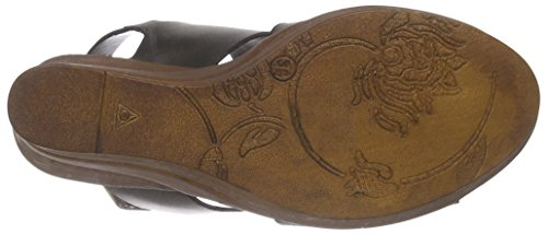 Wedge Sandals Bullboxer Black Schwarz Blck Heel Platform 625029e2l Women's BxBqFPE