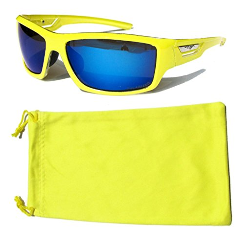 VertX Polarized Neon Sunglasses Sport Cycling Running Outdoor & Microfiber Pouch