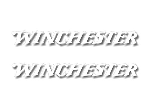 2 Winchester White Vinyl Sticker 9