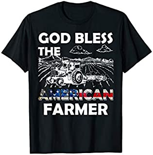 God Bless The American Farmer  Farming Farmer Gifts Need Funny Tee Shirt