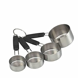 masterclass Soft-Grip Stainless Steel Measuring Cups (Set of 4)