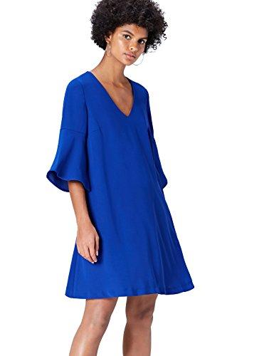 FIND Abito Midi Donna Blu (Dazzling Blue)