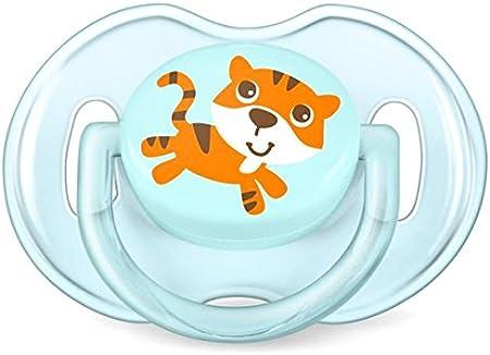 Philips Avent SCF169/25 - Set de 2 chupetes Gama Safari, de 0 a 6 meses, diseño tigre o hipopótamo, para niño