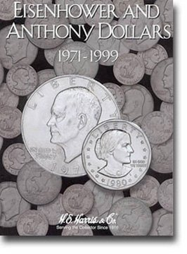 Harris Coin Folder – Eisenhower-Anthony Dollar Folder 1971-1999 #8HRS2699 by H.E. Harris