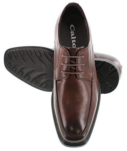 G-CALTO 60127-(3 7,62 cm, altezza Inches)-Tappetto aumentare ascensore Scarpe con lacci, colore: marrone scuro, Oxfords