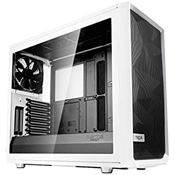 Fractal Design Meshify S2 - Mid Tower Computer Case - Airflow/Performance - 3X Silent Fans - PSU Shroud - Modular Interior - Water-Cooling Ready - USB Type C - White Tempered Glass
