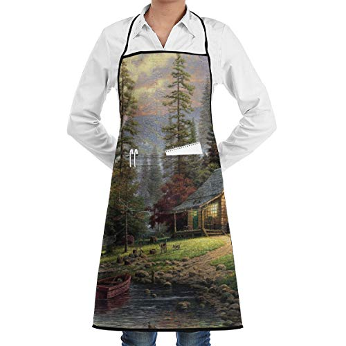 A Quiet Cozy Home Cooking Bib Apron Waterproof
