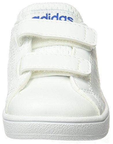 adidas Unisex-Kinder Vs Advantage Clean Sneakers Weiß (Ftwwht/ftwwht/blue)