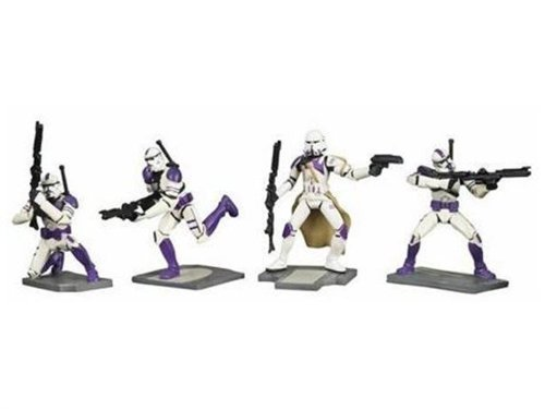 Star Wars Unleashed Battle Packs > 187th Legion Troopers Action Figure Set