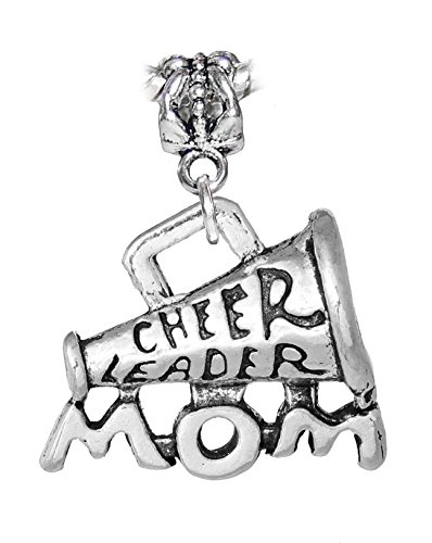 Cheer Leader Mom Cheerleader Cheerleading Megaphone Charm for European Bracelets