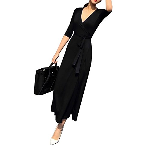 Jupe col V Robes temprament treasures mysterious gifts Longue Split Hepburn Robe Collection MiGMV of for de Grande Code pxwfqnw0