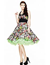 Hell Bunny Women's Horror B-Movie Rockabilly 50's Dress