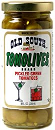 Old South Tomolives Pickled Green Tomatoes 8 Oz Jar (6 Pack)
