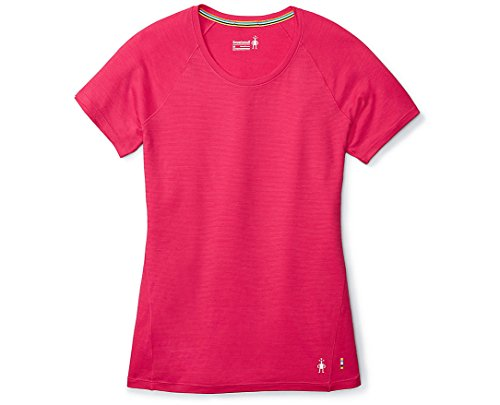 (SmartWool Women's Merino 150 Baselayer Pattern Short Sleeve Potion Pink Small)
