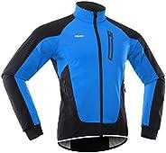 Galapare Men Cycling Jacket Waterproof Windproof Thermal Fleece Bike Jersey MTB Bicycle Riding Running Autumn