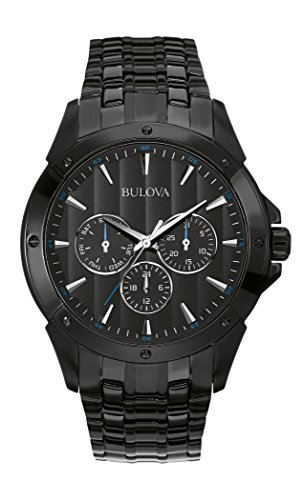 Bulova Men's 98C121 Sport Analog Display Japanese Quartz Black Watch ()