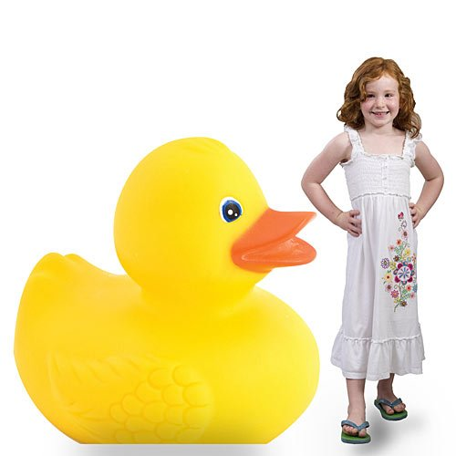 3 ft. 10 in. Carnival Circus Rubber Duck Standee Standup Photo Booth Prop Background Backdrop Party Decoration Decor Scene Setter Cardboard Cutout -