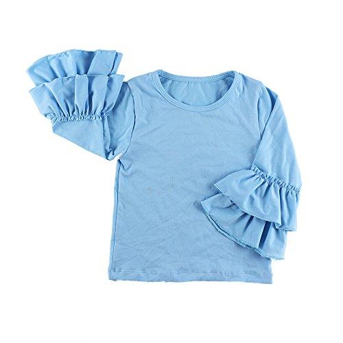 Wennikids Little Girls' Long-Sleeve Ruffle T-Shirt Medium Light ()