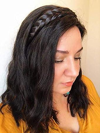 Uniwigs extensiones pelo trenzado diadema Color marrón oscuro y-4 C con clips para la moda las mujeres por appearanz: Amazon.es: Belleza