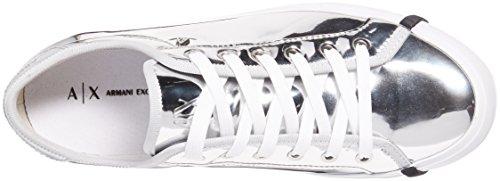 A | X Armani Exchange Donna Sneaker Metallizzato Low Cut Argento