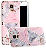for Samsung Galaxy S5 / S5 Neo Case,OYIME [with Screen Protector] Butterfly Flowers Plating Design