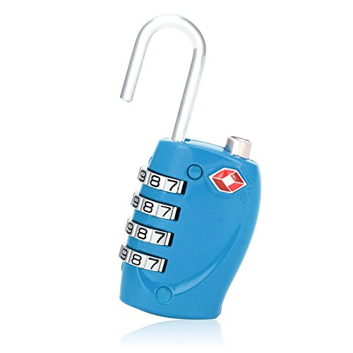 UPC 701160670873, 1 Pack TSA Approved Travel Combination Luggage Lock for Suitcase Blue