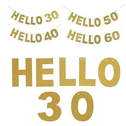 Adulto 30 Cumpleaños Fiesta Decoración Banner Letra Tag Pull ...